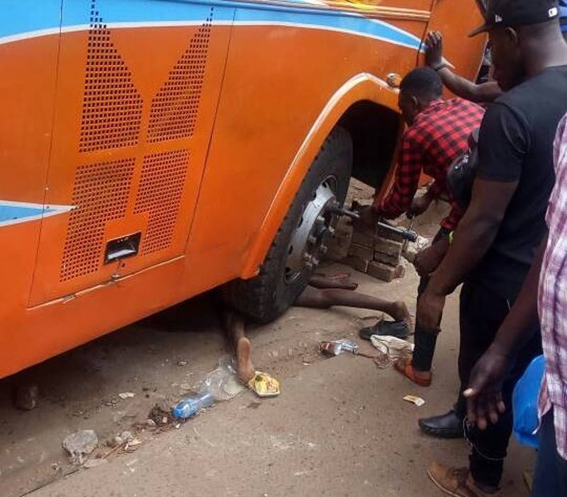 1 killed, several injured as bus slams into building