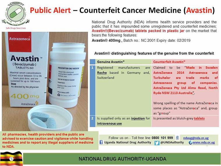 Fake cancer drugs sold on Ugandan market