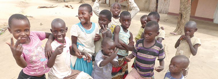 Refugee children in Rwamwanja settlement area
