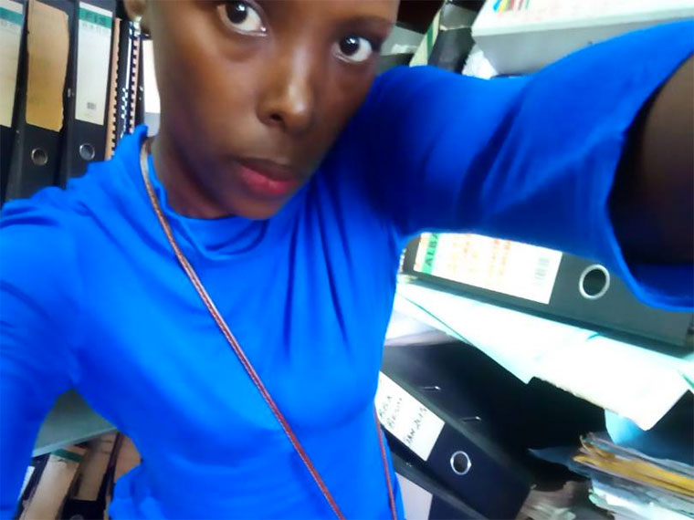 Rachel Njeri Took And Posted A Picture Of Edward Kisuze Reportedly Sexually Harassing Her