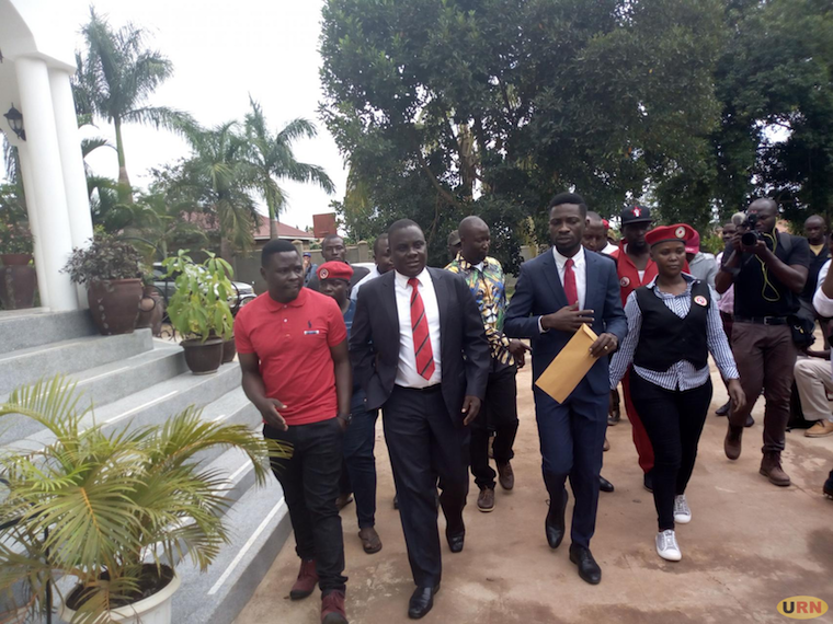 Bobi Wine unsuccessfully attempts to leave his house today