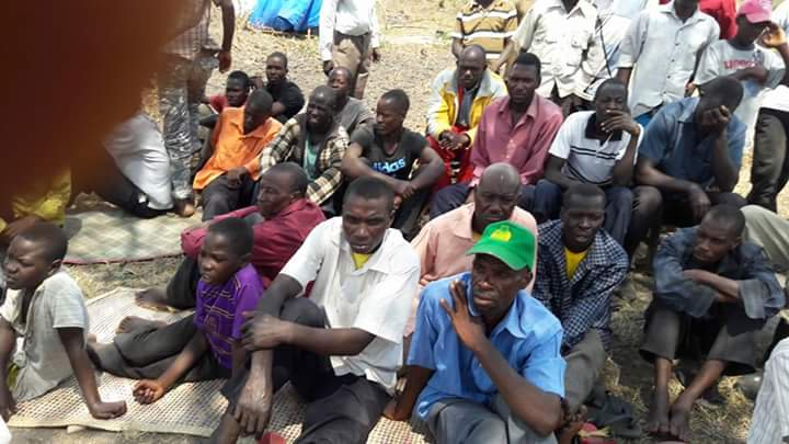 Kassanda residents during an earlier meeting over land ownership