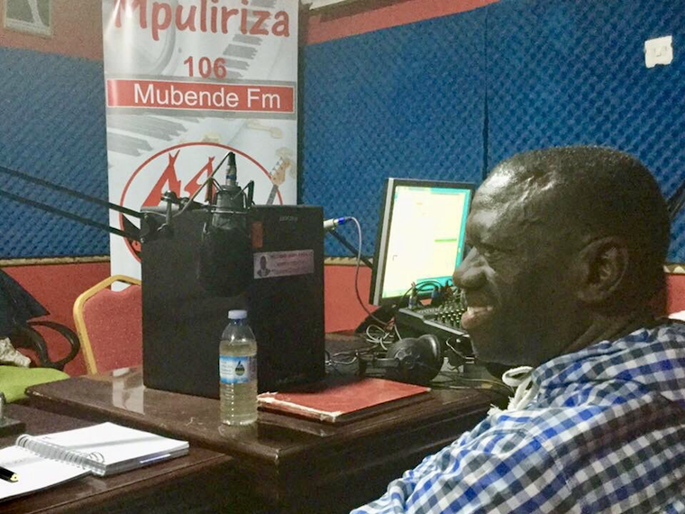 Kizza Besigye in the studios before the arrest