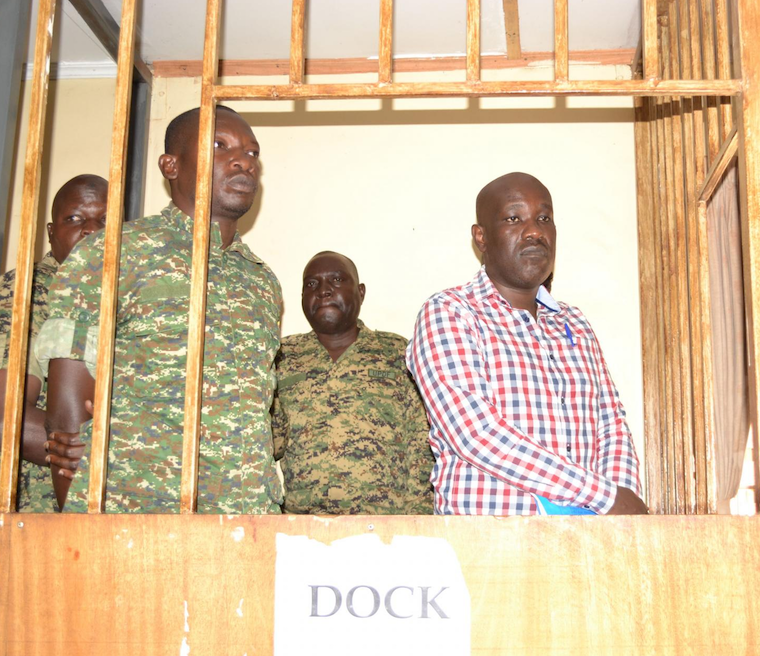 Kipoi and his co-accused in the Army court earlier