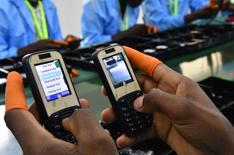 The S300 phones undergoing testing in Namanve