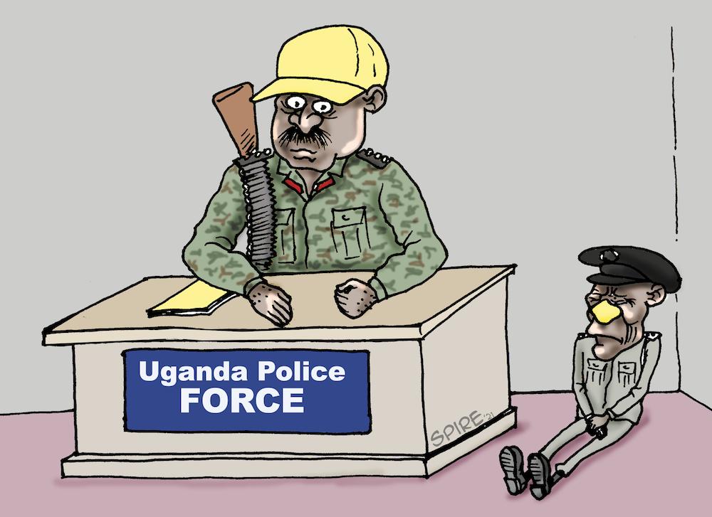 CARTOON OF THE WEEK: Uganda P̶O̶L̶I̶C̶E̶ ARMY FORCE