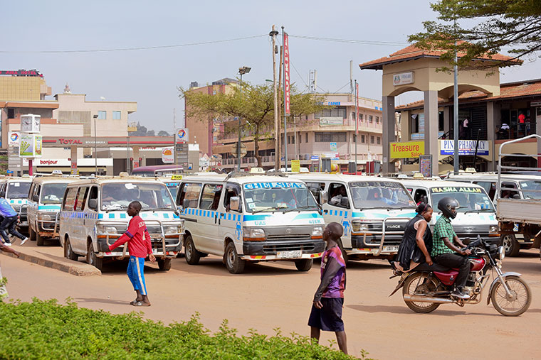 Taxis in Kampala