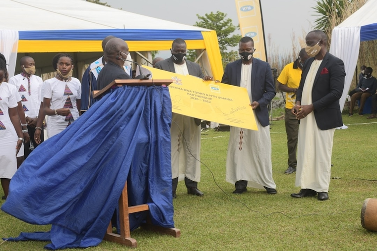 MTN has committed to provide Shs 700m to Tooro kingdom over two years