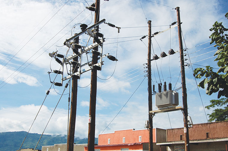Some of the REA electric poles