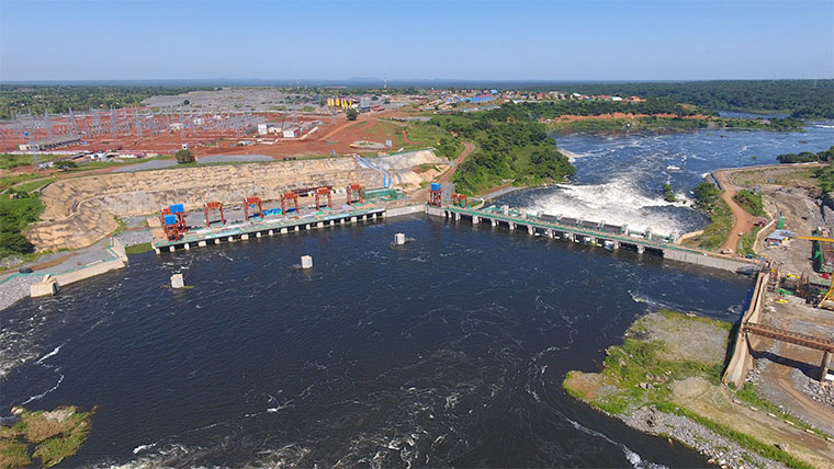 Karuma dam under construction