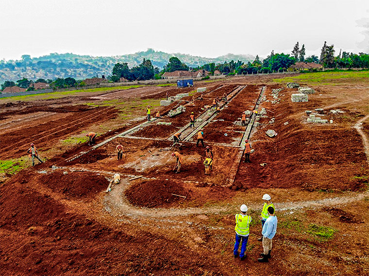 Construction site of Lubowa hospital