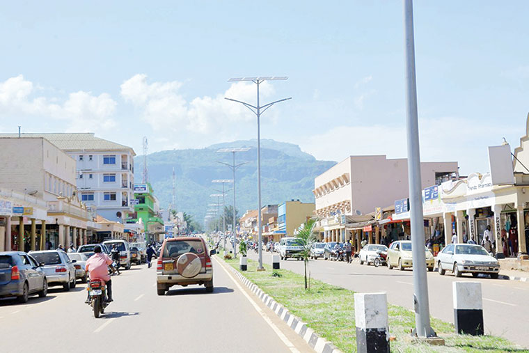 A street in Mbale town, which is on course to regain its former glory