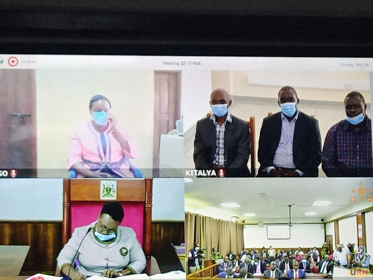 The accused appear in court via video link