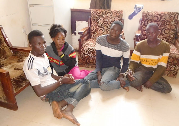 Some of the arrested suspects of the Three Star gang