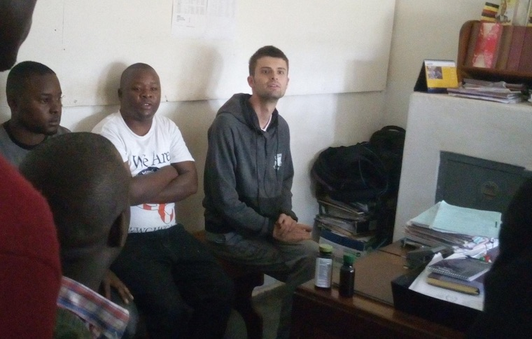 Sam Little during interrogation at Fort Portal police station