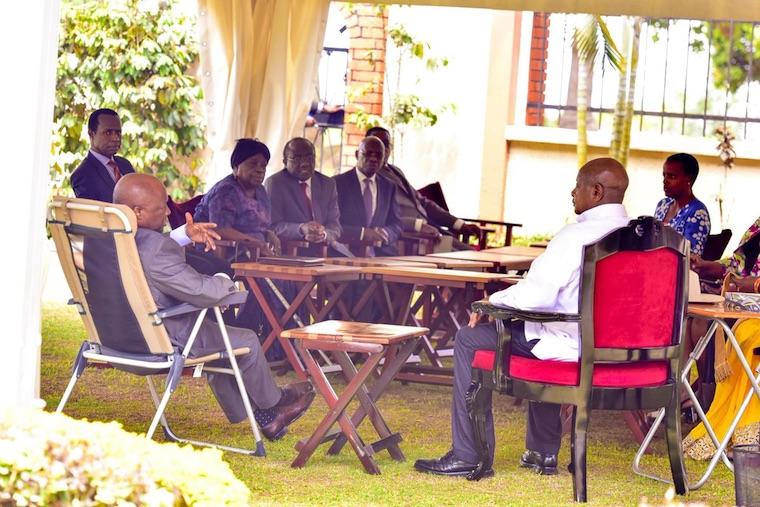 Kabaka Ronald Muwenda Mutebi hosted President Museveni in Banda