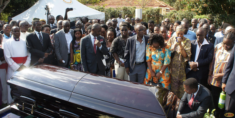 Kaaya Kavuma being laid to rest