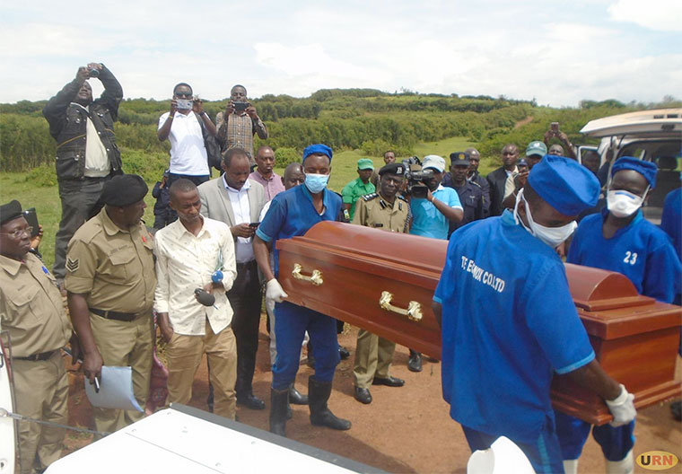 Rwanda hands over the bodies of the killed Ugandans