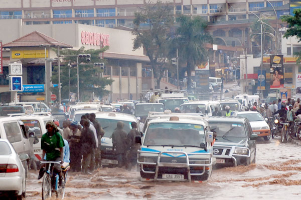 Kampala city usually floods with the slightest rainfall due to poor planning. Photo: courtesy