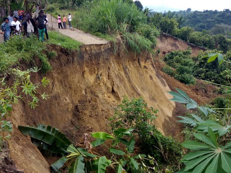 The landslides killed three people on Wednesday