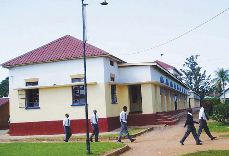 Students of St Mary's College Kisubi at the school premises