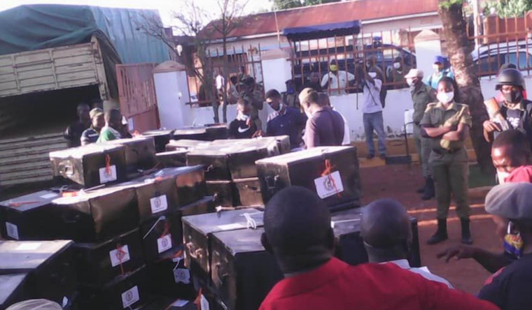 Some of the ballot boxes delivered in Iganga