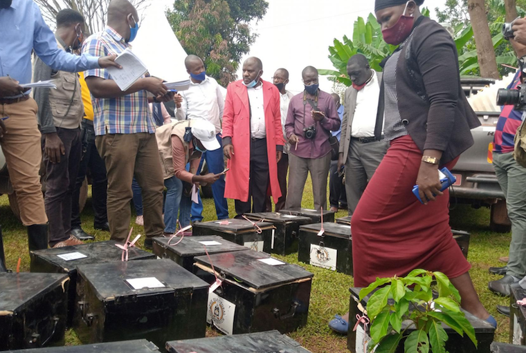 Ballot boxes being examined in Mukono
