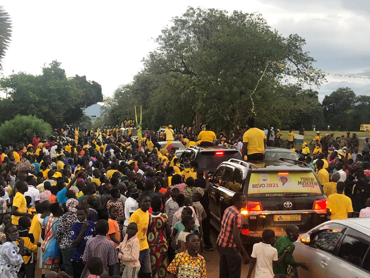 Singer Bebe Cool leading NRM procession in Gulu city. Photo/@BlizzUganda