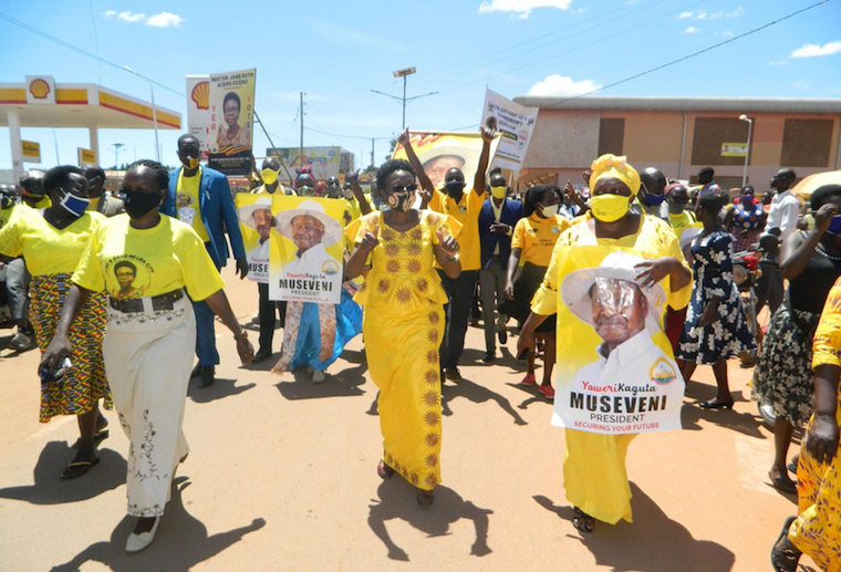 Health minister Jane Ruth Aceng leading a procession in Lira recently