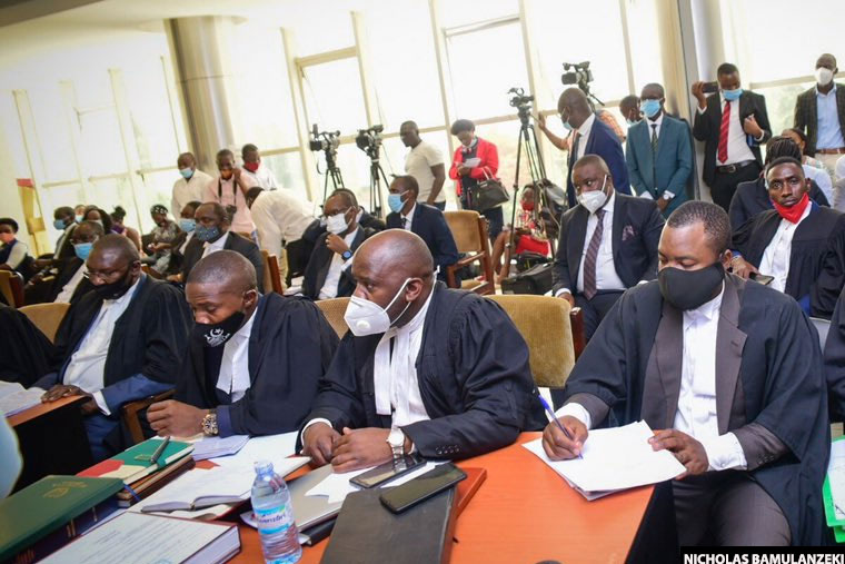 Kyagulanyi's lawyers in court
