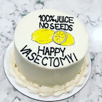 The trending vasectomy cakes