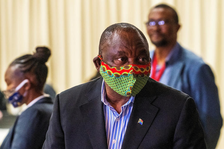 South Africa President Cyril Ramaphosa