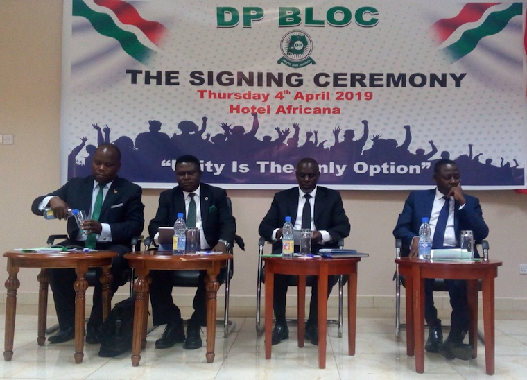 The DP Bloc signing event
