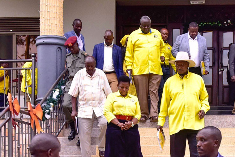 Museveni with some of the NRM leaders