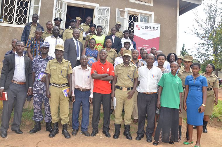 Legal and policy training on abortion for Police officers from Kyankwanzi and Kiboga district