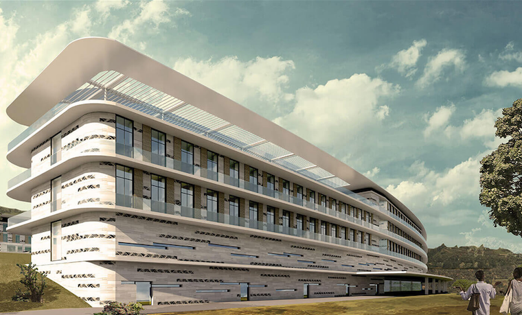 The artistic impression of the specialised hospital