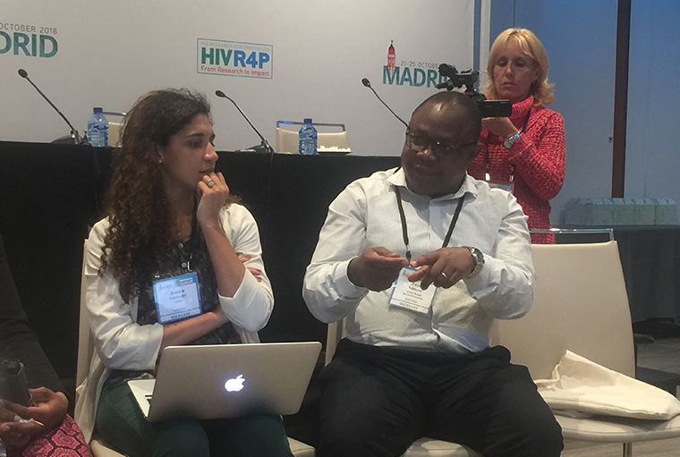Dr Zaza Ndhlovu (R) researcher Africa Health Research Institute, South Africa AND Jessica Salzwedel, the program manager Avac