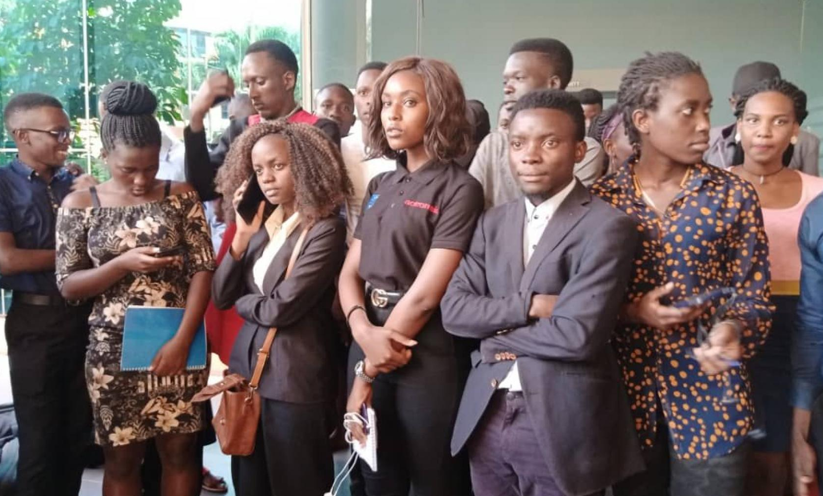 Makerere University students at the High court