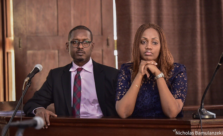 Mathew Kanyamunyu and Cynthia Munangwari in court on Wednesday
