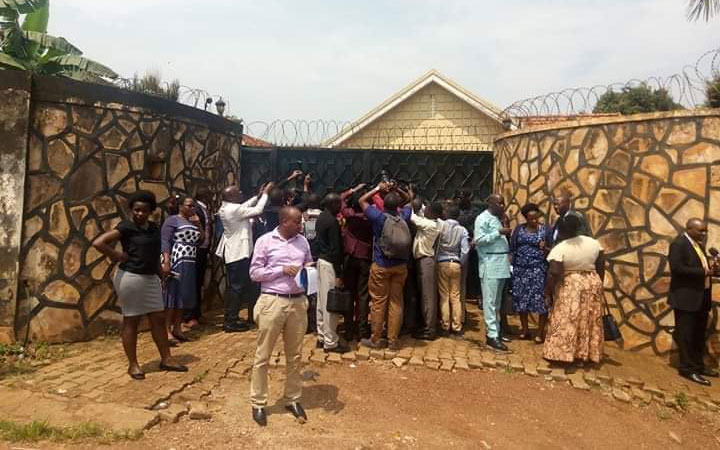 MPs at one of the safe houses in Kyengera
