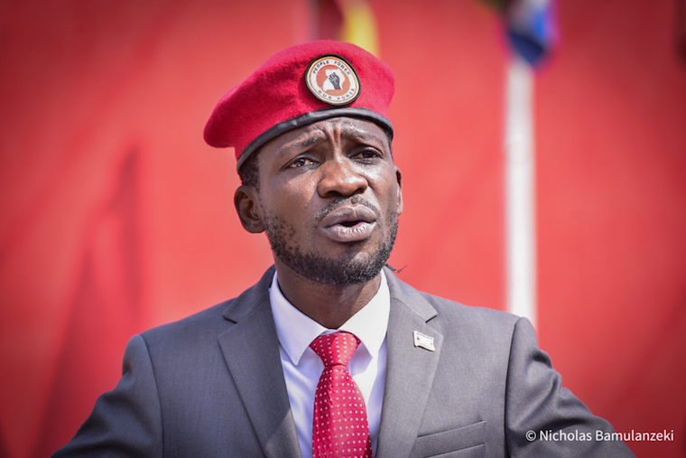 Bobi Wine, the NUP president and presidential flag bearer