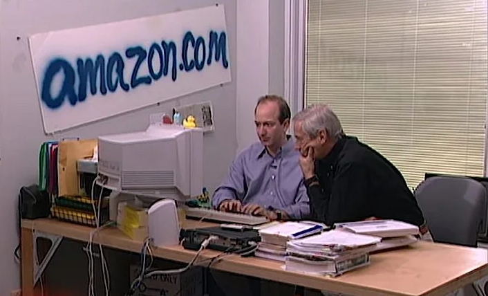 Jeff Bezos in his office in 1999
