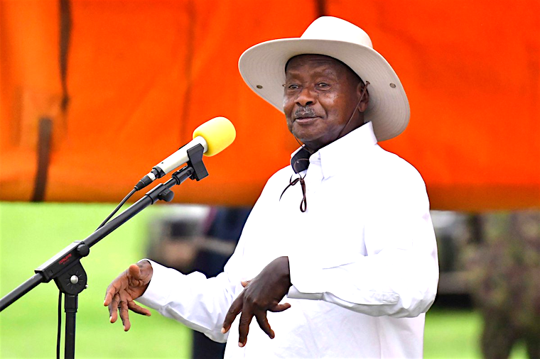 Image result for museveni in karamoja