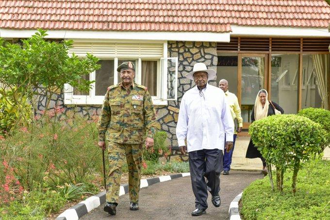 President Museveni with Gen. Abdel Fattah Al-Burhan