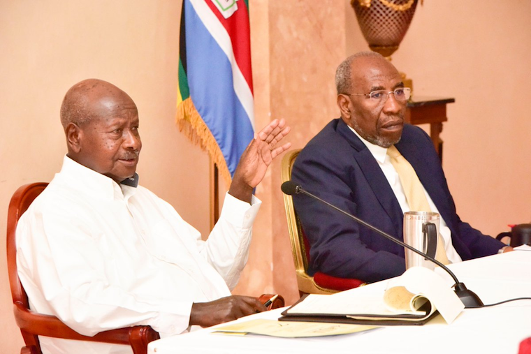 President Museveni addressing investors at State House