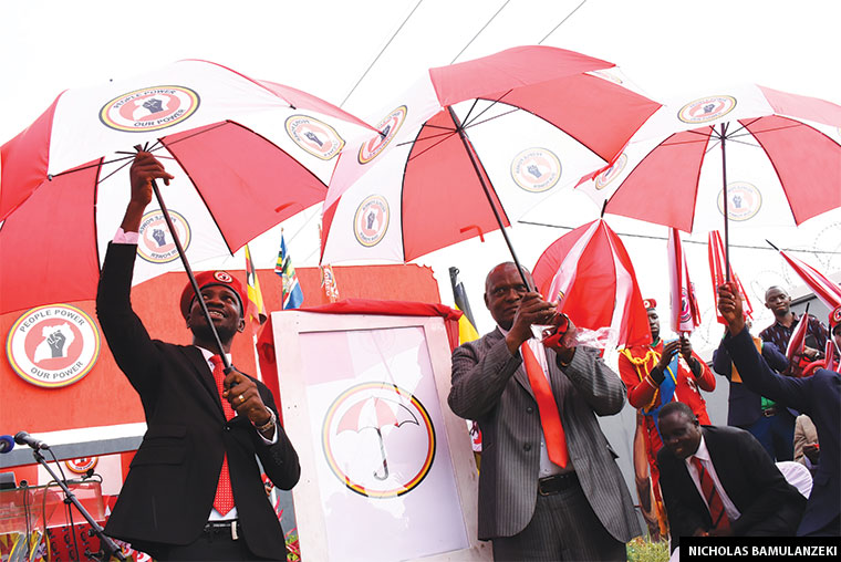 Bobi Wine unveiling the National Unity Platform party