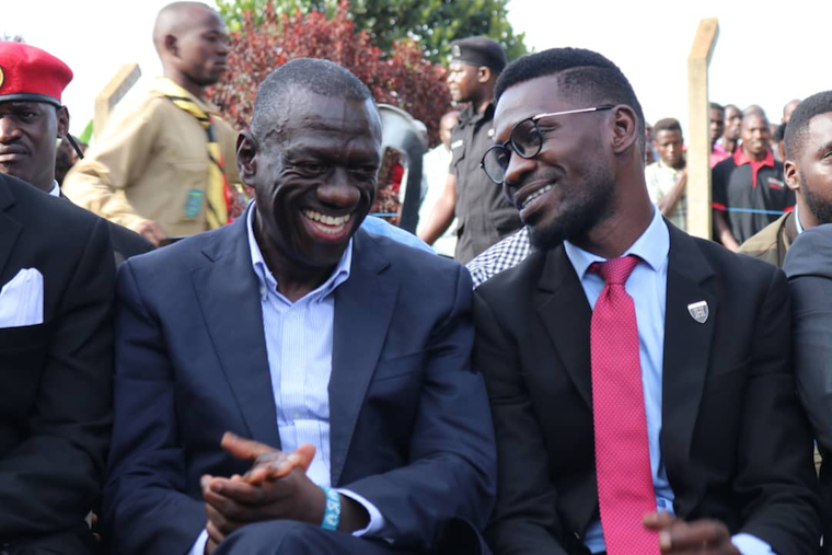 Dr Kizza Besigye with Bobi Wine