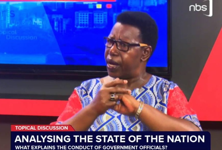 Miria Matembe while appearing on NBS TV
