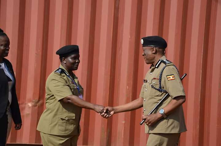 CID director Grace Akullo with IGP Martins Okoth Ochola
