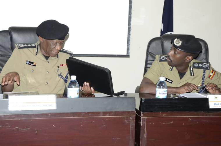 IGP Martins Okoth Ochola with his deputy Sabiiti Muzeyi